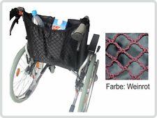 Rollstuhlnetz Einkaufsnetz mit Innenfutter, weinrot universal NEU+OVP
