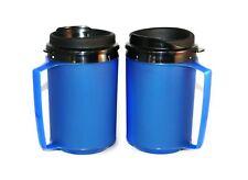 2 Foam Insulated 12oz ThermoServ Travel Mugs Blue