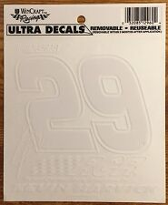 Wincraft Racing NASCAR #29 KEVIN HARVICK RCR Window Transfer Sticker / Decal
