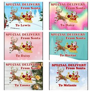 PERSONALISED Christmas Gift Stickers from Santa for Presents, cards, tags etc