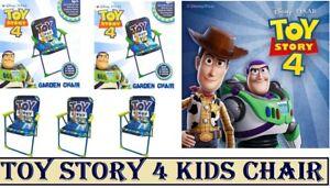 Children Kids Outdoor/Indoor Garden Foldable Patio Chair Toy Story 4 Design Blue