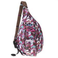 KAVU Rope Sling Bag Polyester Crossbody Shoulder Hiking Backpack - Sunset Blocks