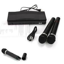 Wireless Microphone System Handheld Cordless Mic Karaoke Stage KTV Black