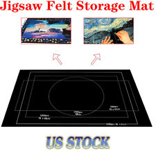 Jigsaw Felt Storage Mat Roll-Up Puzzle Storage Mat For Up To 1500pcs 26x46 inch