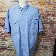 Columbia Pfg HOMBRE Algodón Forrado con Malla Manga Corta Camiseta Exterior XL