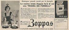 W1778 Cucina elettrogas ZOPPAS - Pubblicità del 1958 - Vintage advertising