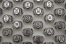 Job Mixed Lots 30pcs Alloy Letter Design Men's Fashion Cool Popular ring
