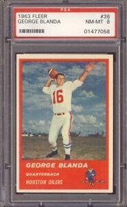 1963 Fleer Football #36 George Blanda PSA 8