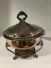 New listing Vintage Sheridan Silver Plated Warming Chafing Dish