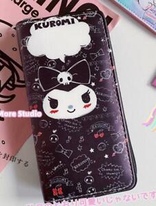 kuromi black evil purse wallet card cute bag handbag fold zip wallets model