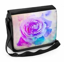 Abstract Rose Laptop Messenger Bag - Rpses Floral Flower