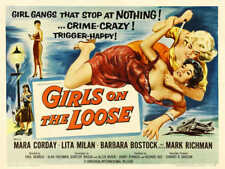 1958 GIRLS ON THE LOOSE VINTAGE MOVIE POSTER PRINT STYLE B 36x48 BIG
