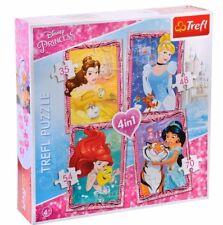 Disney Princesses Children's Girls 4 x Jigsaw Puzzles Box 35, 48, 54, 70 pieces