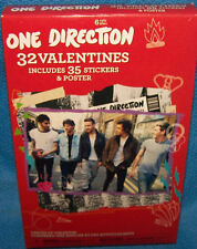 Valentines Day Cards (Box of 32) One Direction Includes Sticker & Poster