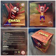 Crash Bandicoot Le Collectible Micro Blocks Figure Nib! Gamestop Exclusive Bonus