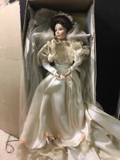 Beautiful Porcelain Victorian Bride Doll W/ Stand Ashton Drake Galleries 1994