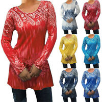Women Casual O-Neck T-shirt Blouse Ladies Long Sleeve Top Tee Pullover Plus Size