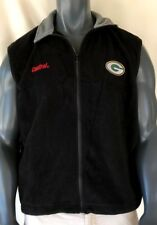Green Bay Packers Men's XL Fleece Vest Embroidered Athletic Golf NFL Sewn Stitch