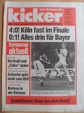 KICKER 29 3.4. 1986 A.Madrid-Uerdingen 1:0 Köln-Waregem 4:0 Hannover-Schalke 1:2