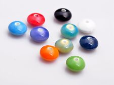 20pcs Mixed Colour Porcelain Ceramic Oblate Abacus Loose Spacer Beads 12x7mm New