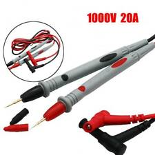 20a 1000v Digital Multimeter Multi Meter Test Lead Probe Wire Silicone Pen Cable