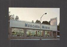 BUSINESS CARD:  MUSCARA MUSIC, INC. - BELLEVILLE, NEW JERSEY - MUSIC STORE