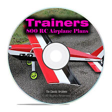 800 Trainer RC Remote Control Model Airplane Plans, Training Planes DVD I19