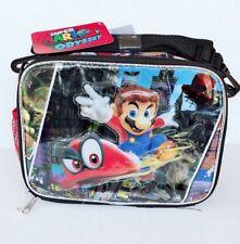 Nintendo Super Mario School Lunch Bag Insulated Food Snack Box Mario Odyssey