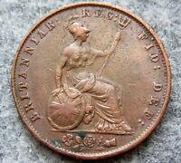 GREAT BRITAIN QUEEN VICTORIA 1853 1/2 HALF PENNY HALFPENNY