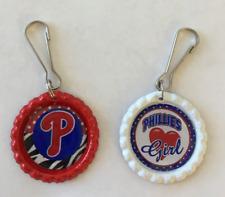 Handmade Philadelphia Phillies Zipper Pulls Set of 2