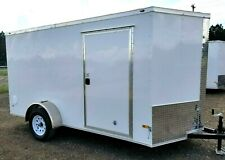6'x12' Enclosed Trailer Cargo ATV Motorcycle Utility Box Trailers V Nose