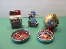 COCA COLA Christmas Ornaments Lot of 5 -