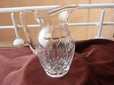 broc à eau St louis,modele Chantilly,cristal taillé,H 23cm,cachet sous la base
