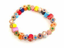 Handmade Pencil Crayon Bracelet, Fair Trade, Recycled Jewellery, Made in India