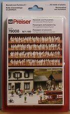 Preiser 79008, Spur N, 120 unbemalte Miniatur-Figuren: Reisende und Passanten
