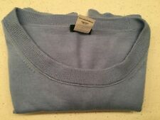 J. Crew Pullover Blue Sweater 100% Merino Wool Women's Size Small Excellent Cond