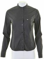 TRUSSARDI Womens Shirt Size 12 Medium Black  KU19
