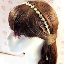 Fashion Lace Flower Headband Pearl Hair Clip Headwear Women Hair Accessory