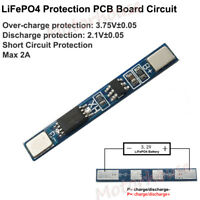 1S 2A BMS Protection Circuit PCB Board For 3.2V LiFePO4 LiFe 18650 Battery Cell