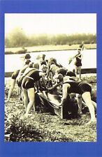 Nostalgia Postcard Rowing Club, Staines, River Thames 1920's Repro Card #N1171