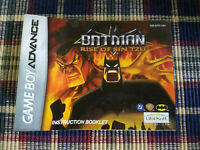 Batman Rise of Sin Tzu - Authentic - Nintendo Game Boy Advance - GBA Manual Only