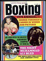 BOXING ANNUAL 1974 MUHAMMAD ALI-GEORGE FOREMAN