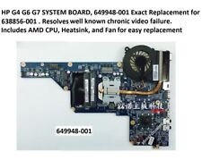 HP G4 G6 G7 649948-001 AMD Motherboard +CPU+HS+Fan replacement for 638856-001, A