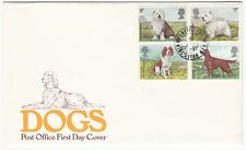 LETTRE FDC ROYAUME UNI SERIE TIMBRE 880 A 883 CHIEN CRUFTS DOG SHOW  1979