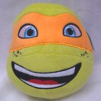 "TEENAGE MUTANT NINJA TURTLES MICHELANGELO HEAD BALL 7"" Plush Stuffed Animal NEW"