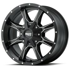 20 Inch Black Milled Wheel Rims GMC Sierra 2500 3500 Truck Moto Metal MO970 20x9
