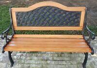 Antique Refurbished Cast Iron Park Bench
