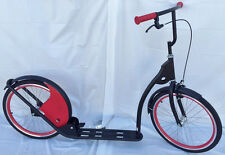 "Adult Kick Scooter Kick Bike 20"" Wheels Black with Red"