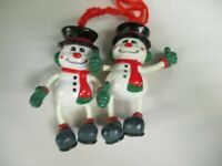 "Vintage Rare Easter Unlimited 4.5"" Christmas Snowman Figure"