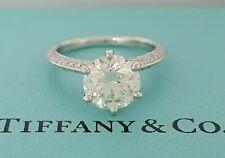 Pave Tiffany & Co 2.61 ct Round Diamond Platinum Engagement Ring 3EX Rtl $51k